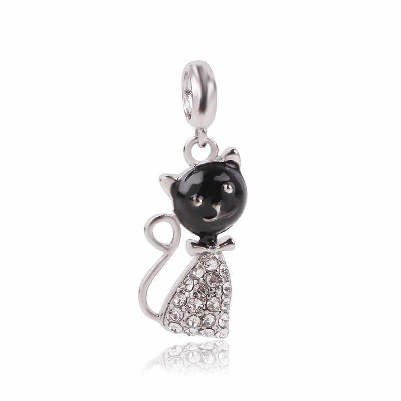 Dodocharms новая бусина серебряного цвета очарование Европейская девушка кошка лошадь Медведь Бабочка мода бисера Fit Pandora браслет DIY ожерелье