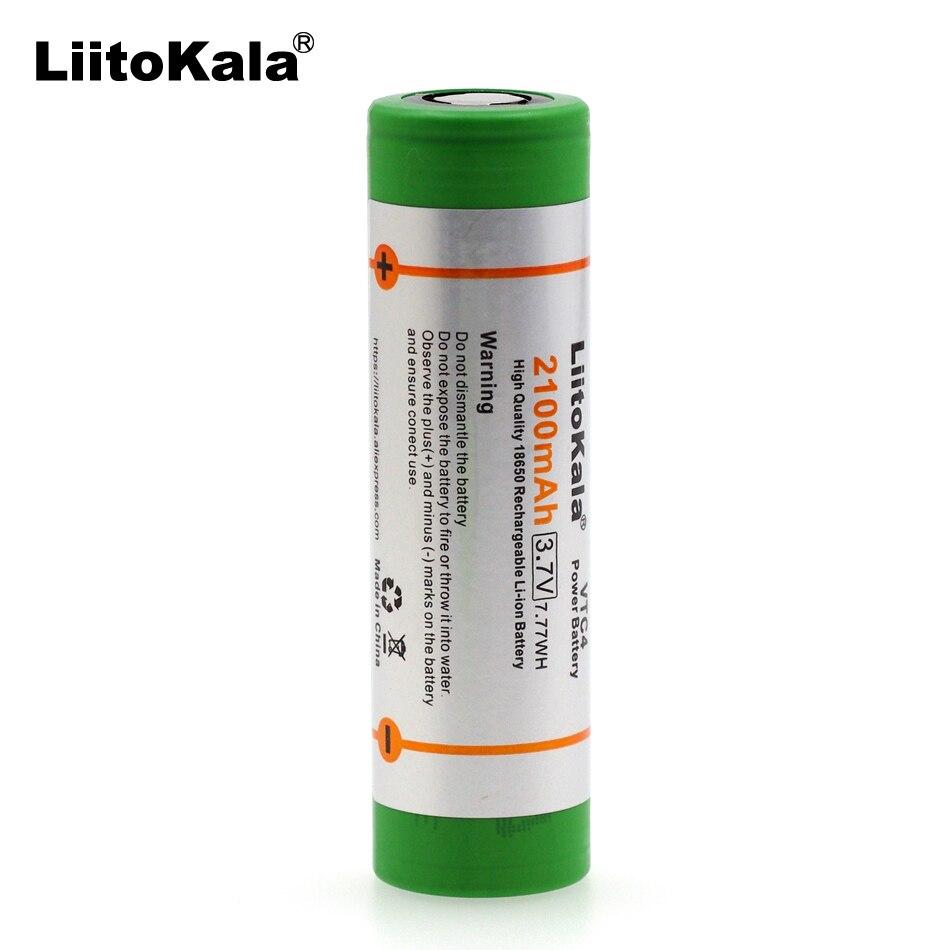 Liitokala 6 UNIDS Nuevo VTC4 US18650 Originales 2100 mAh 18650 3.6 V batería de