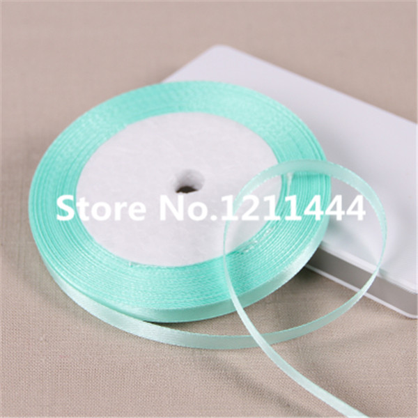 New 141# 0.6cm Wide 50Yards/lot Water Green Ribbons for Christams Gifts/ Wedding /Birthday /Festival/ Party decoration Ribbon