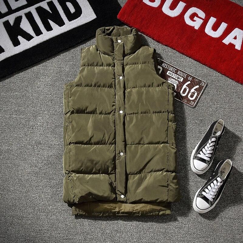 2019, зимние куртки, жилет для мужчин, без рукавов, с принтом, на молнии, пальто для мужчин, пальто, теплое, с капюшоном, жилеты для мужчин размер... - 3