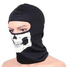 Здесь можно купить   1Pcs Black Ghosts Balaclava Skull Full Face Mask for Cosplay Party Halloween Motorcycle Bike Cycling Outdoor Skateboard Hiking Health Care
