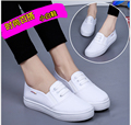 New 2017 Spring Summer white canvas shoes women casual shoes fashion women flat shoes  student shoes