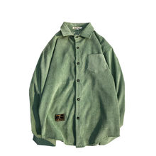 Corduroy Materiaal shirt mannen(China)