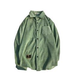 Мужская рубашка из вельветового материала