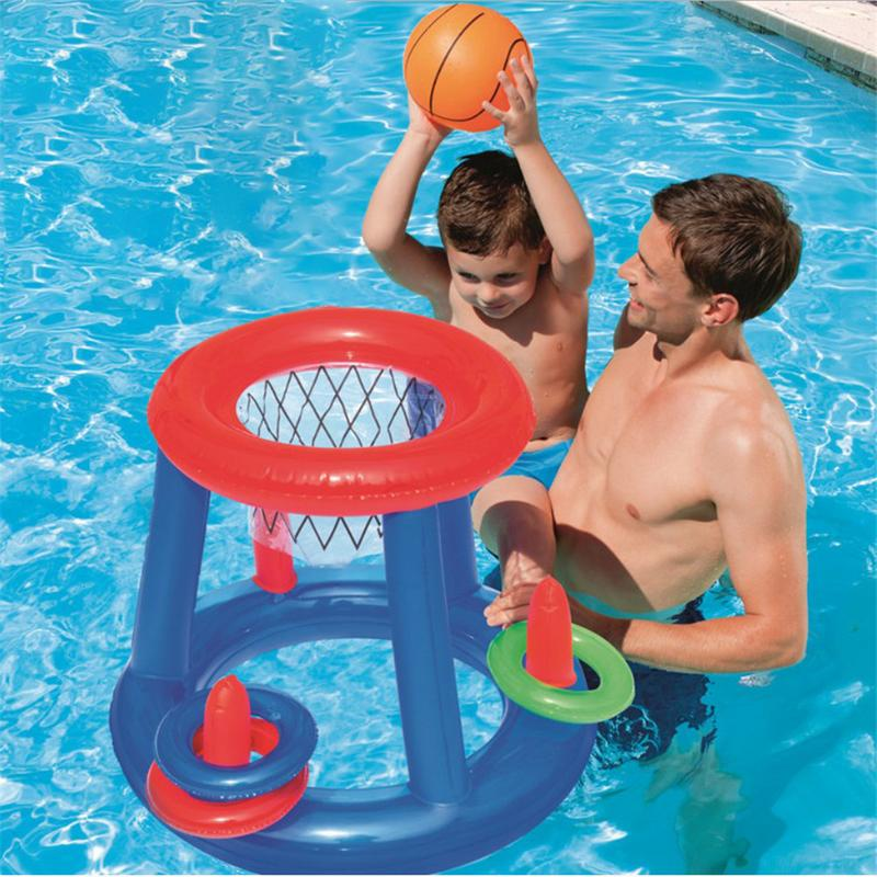 New Water Basketball Hoop Pool Float Inflatable Play Game Swimming Pool Toy Water Sport Toy Pool Floating Toys For Children Kids