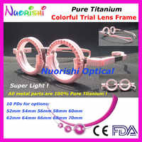 XD12 Retail Pure Titanium Super Light Very Comfortable Colorful Fixed PD High Classic Optometry Trial Lens Frame Free Shipping