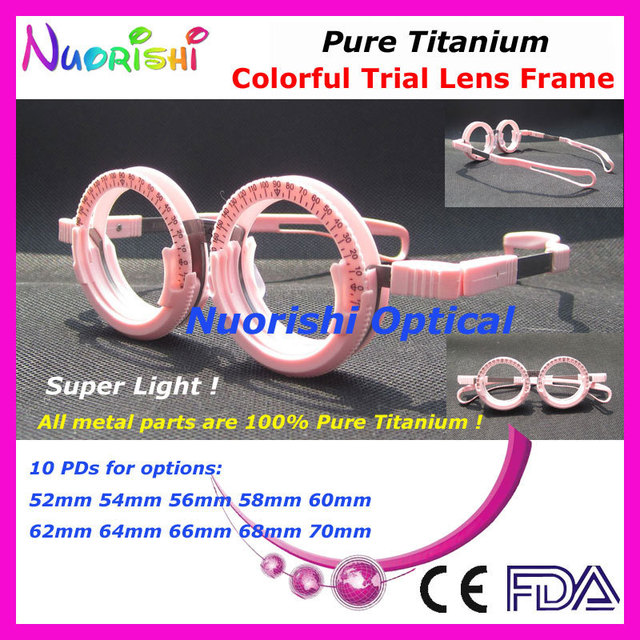 Xd12 varejo puro titânio Super leve muito confortável colorido PD fixo alta clássico optometria teste Lens quadro frete grátis