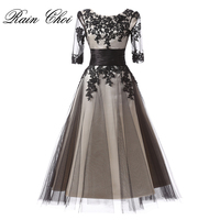 New Arrival Mother Of The Bride Dress Women Formal Evening Gowns Grey Elegant Tea Length Half