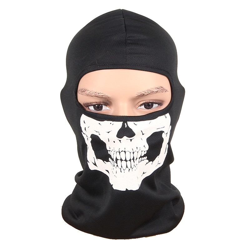 Men Balaclava Windproof Skull Casual Mask Cotton Full Face Neck Guard Masks Headgear Hat Cap skull style half face mask old silvery