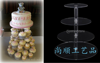 Free shipping 4 tier acrylic wedding cake stand