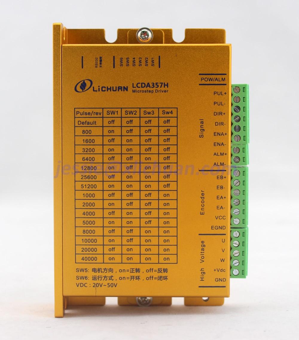 Hot sell high speed Lichuan 3 phase Nema23 closed loop stepper driver controller Nema 23 LCDA357H