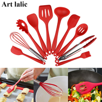 10 Pcs/Set Nonstick cookware sets Kitchen Tools Cook Ware Silicone Baking Supplies New Year Home Creative Cooking Supply