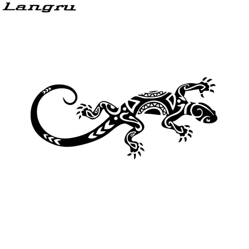 Langru Funny Reptile Lizard Decor Car Stickers Vinyl Bumper Car Window Decal Accessories Jdm(China)