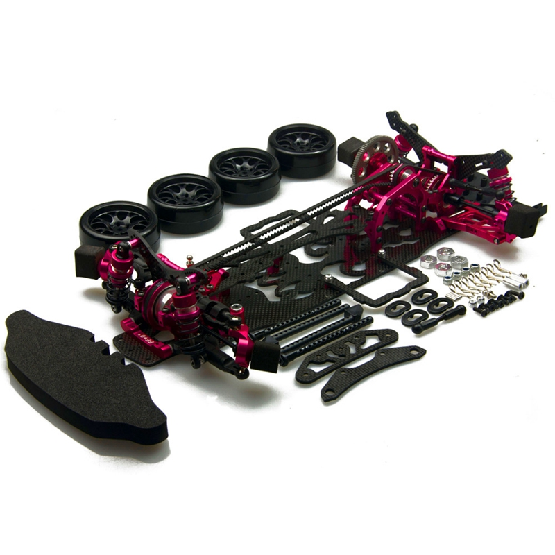 Free shipping Alloy & Carbon SAKURA D4 AWD RC 1/10 4WD Drift 3Racing Car Frame Kit 1:10 Top Quality 1 set d3 cs sport aluminum steering system for 3racing sakura d3 1 10 rc car top quality