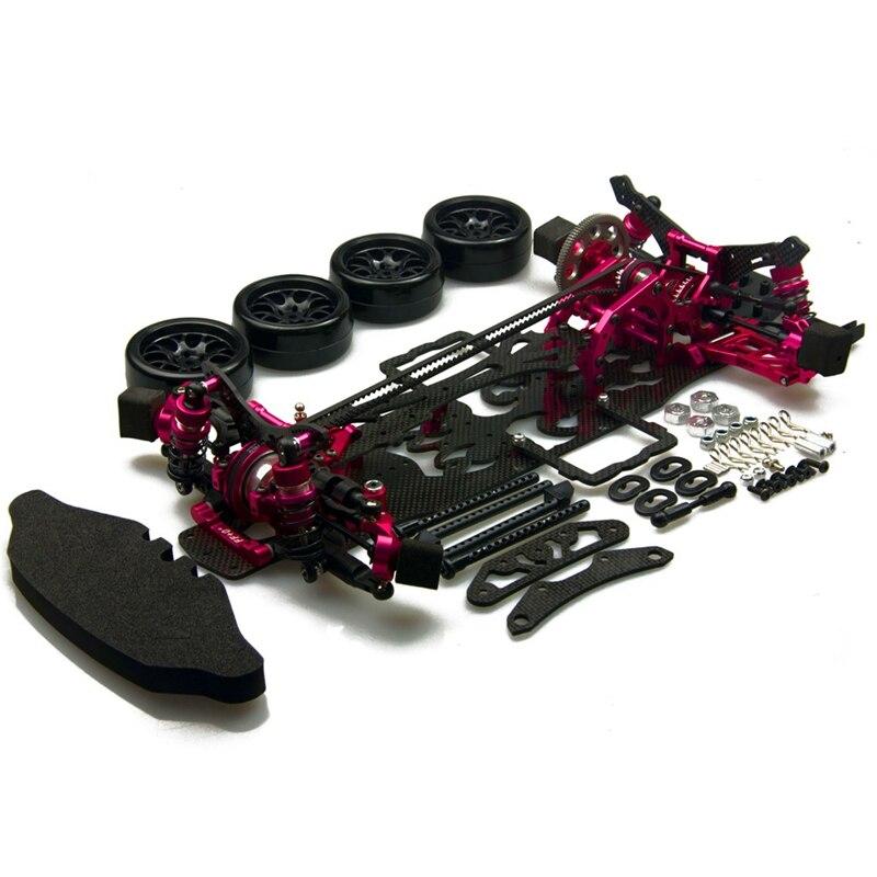 Bezmaksas piegāde Alloy & Carbon SAKURA D4 AWD RC 1/10 Drift 3Racing - Tālvadības rotaļlietas
