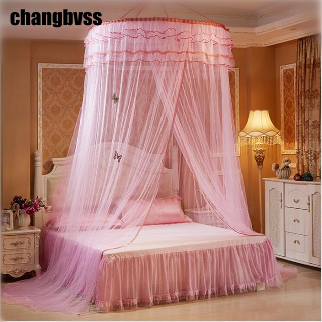 Hot Universal Round Lace Fly Mosquito NetSummer Bed Canopy Mosquito NettingNet Bed & Hot Universal Round Lace Fly Mosquito NetSummer Bed Canopy ...