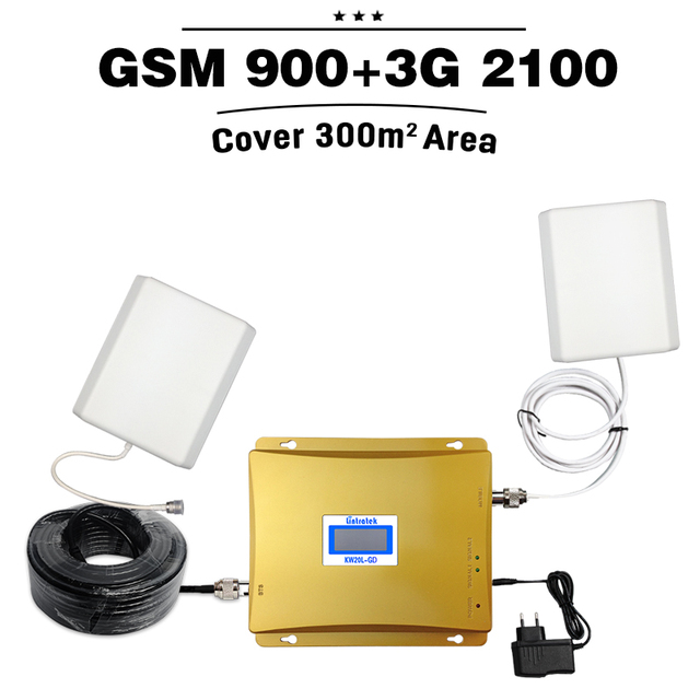 MegaFon Beeline MTS SMARTS GSM 900 3G WCDMA 2100 Dual Band Mobile Signal Repeater Cellular Booster 2G 3G UMTS 2100 Amplifier