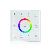 Easy 4-zone DMX 512 control Wall switch touch panel RGBW controller Wall mounted Output T13 DMX512 signal LED Strip Controller