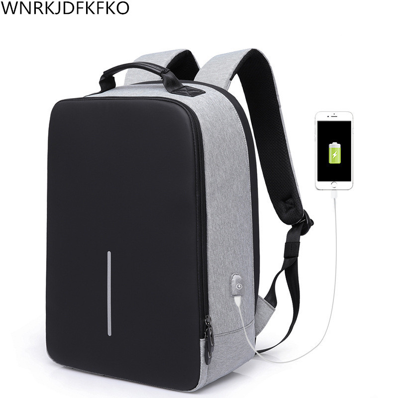 Men's Backpack Anti-theft External USB Charging Interface 17 inches Laptop Backpack School Backpacks School Bag 15 6 17 inches man multi functional backpack external charging usb laptop backpack anti theft students waterproof travel bags