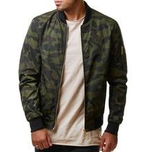 Jaket Pria Kasual Jaket Militer Berkualitas Tinggi Jaket Kamuflase Pria Mantel Laki-laki Pakaian Luar Mantel Plus Ukuran 4XL