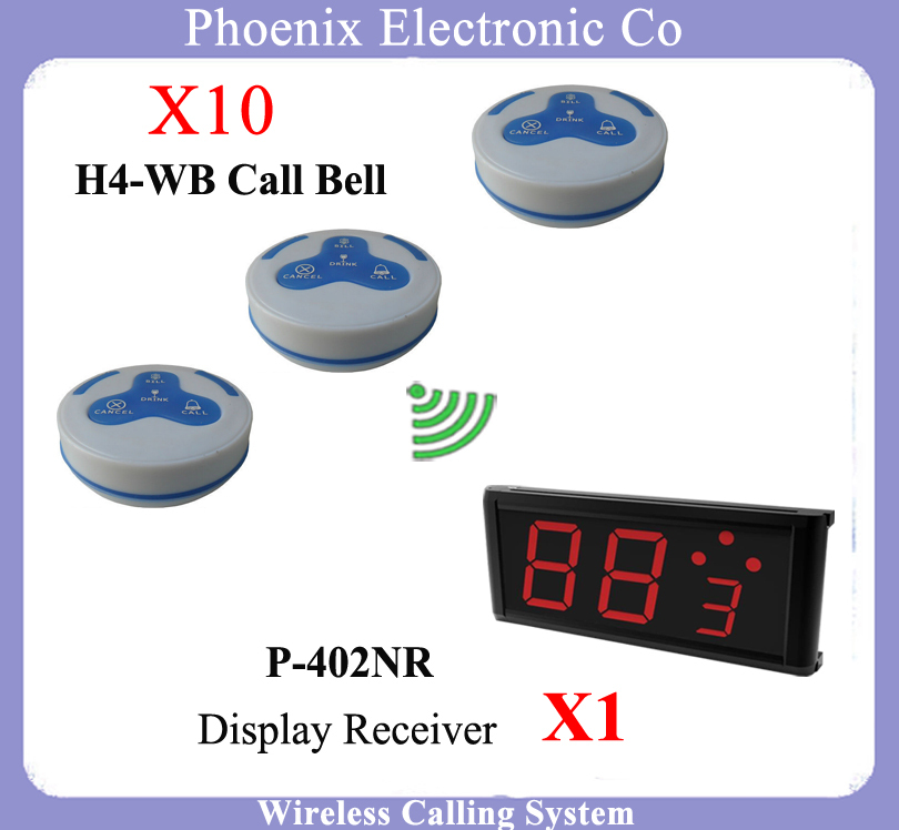 One Sets Of Restaurant Wireless Calling Pager For Waiter Call Systems Including H4 Calling Pager Bell & Menu Display Receiver tivdio 4 watch receivers 30 call pager wireless waiter calling system 999 channel rf for restaurant pager f4413b