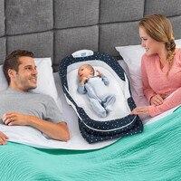 2018 Новый Портативный рюкзак ребенка кровать мешок для новорожденного открытый питомник Путешествия складной детской кроватки Музыка Млад