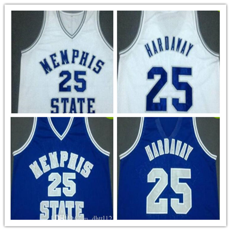 ФОТО High Quality #25 Penny Hardaway Memphis State Throwback Basketball Jerseys Mens Stitched Embroidery Jersey Shirt Custom any Numb
