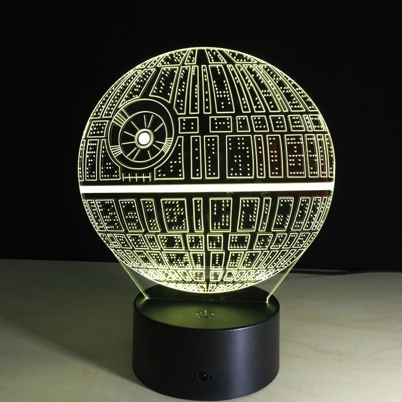 Aliexpress Com Buy 3d Death Star Lamp Star Wars Ds 1