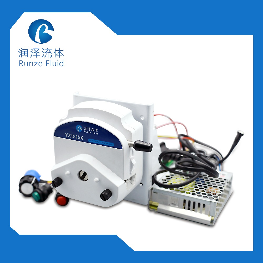 YZ15 Electric Peristaltic Dosing Pump 24v Speed Adjustable 1750ml min with Driver Adapter