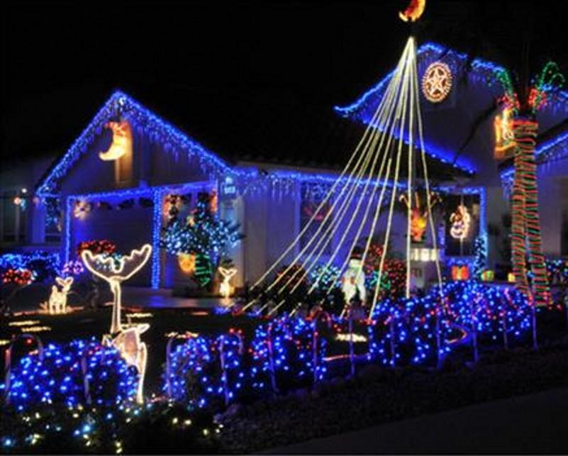 Holiday decoration led lamp 4 m 20 leds waterproof Garland Christmas lights outdoor Small bell string lights Colorful light