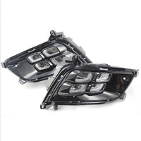 Car Flashing LED DRL For Kia Optima K5 2013 2014 2015 Fog lamp Cover Daytime Running Lights with turn yellow signal
