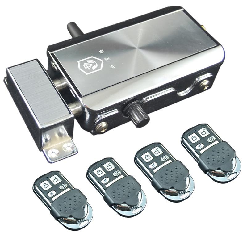 Intellisense fechadura da porta de controle remoto eletrônico conjunto fechaduras cadeado de segurança automaticamente doméstico bloqueio protegido