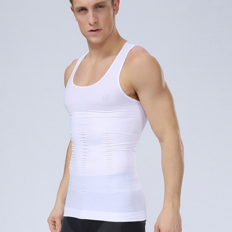 2018 New Summer Mens Belly Control Waist Cincher Burning Fat Tee Shirt Vests Shapewear Jersey bthi