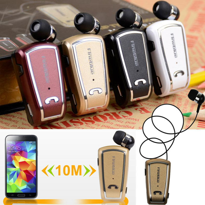 New Retractable Fineblue F-V3 Mini Wireless driver auriculares fone Stereo Bluetooth Headset Clip Running Earphone for Phones t050 3w mini portable retractable stereo speaker w tf black golden 16gb max