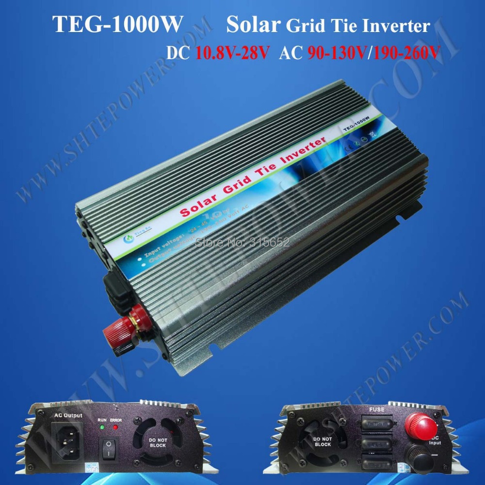 DC to AC Pure Sine Wave On Grid Inverter 1000W 10.8V-30VDC to AC Pure Sine Wave On Grid Inverter 1000W 10.8V-30V