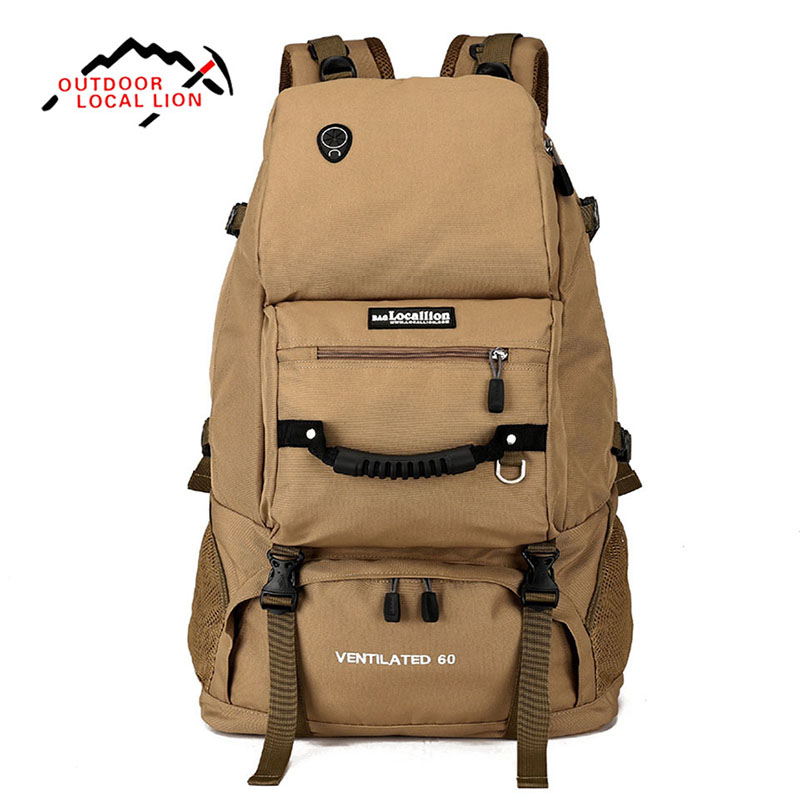 Outdoor Sport Bag LOCAL LION 60L Men Women Trekking Hiking bags Backpack Travel Luggage Shoulders Bag Camping Hiking Climbing outdoor sport bag local lion 35l waterproof rucksack bags women space bag climbing men travel camouflage laptop backpack mochila