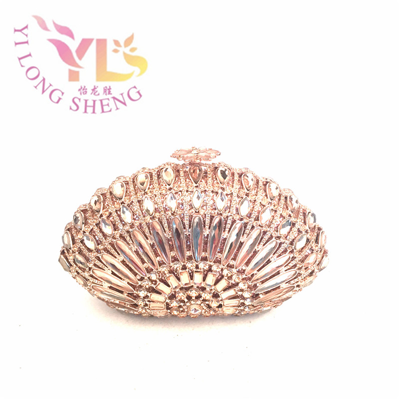 Short Chain Women Clutch Bags Luxury Crystal Women Clutches for Evening Event Party Dinner Cocktail Occasion YLS-G010 luxury crystal clutch handbag women evening bag wedding party purses banquet