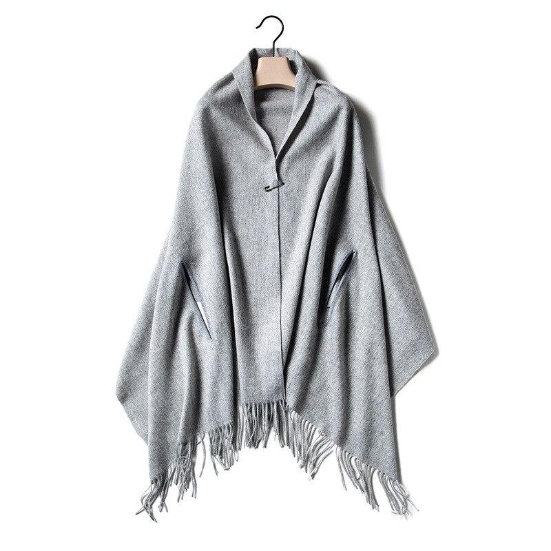 b7aa0bca639123 R$ 248.12  Alta qualidade tamanho grande 100% lã de cordeiro da mulher moda  grande cachecol pashmina poncho capa 70x198 cm atacado varejo em Lenços ...