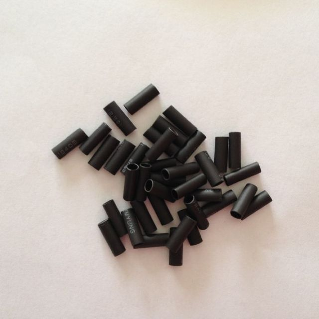 500pcs Shrinkabletube Hair Extension Tube Black Tube In Links Rings