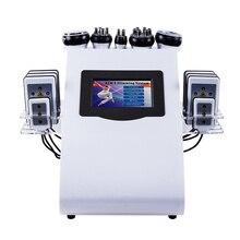 6 в 1 40k ультразвуковая липосакция Кавитация 8 колодки лазерные вакуумные RF уход за кожей салон спа-устройство для похудения и косметическое оборудование