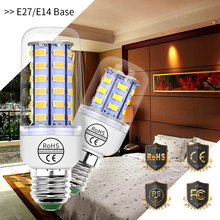 купить E27 LED Lamp 220V E14 LED Corn Bulb GU10 Led Light Bulb B22 Home Energy Saving Candle Light 3W 5W 7W 9W 12W 15W Lamp SMD 5730 по цене 56.01 рублей