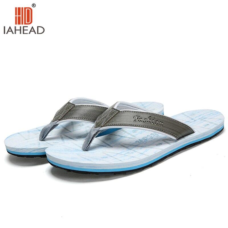 Fashion Slides Summer Men Shoes Beach Sandals Men Leather Slippers Flip Flops sandalias hombre herren schuhe LXD281