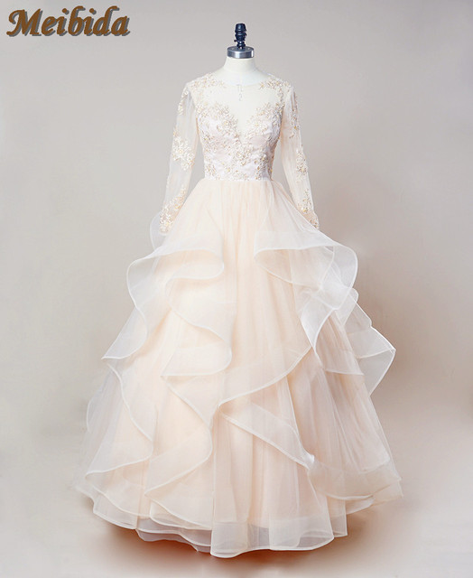 Layered Ruffles Lace Wedding Dresses Organza A Line Sweetheart ...