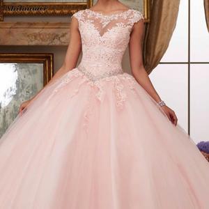 Image 1 - תחרה ארוך ערב המפלגה שמלה יפה עיצוב גדול מטוטלת סוג נשים שמלות בתוספת גודל Xxxl Skyblue ורוד קצר שרוול שמלות