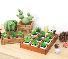 Retro Style Solid Wooden Box Succulent Flower Bed Garden Planter Window Box Trough Pot Plant Bed Pot Garden Supplies