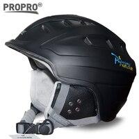 2017 NOVO design de alta qualidade de esqui/moldado integralmente capacete de esqui para adultos tamanho ajustável resistente ao impacto leve shell