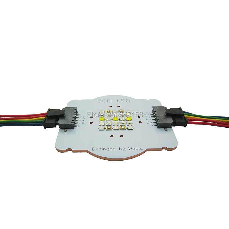 Настроить 5 канал 25 светодиодов аквариум светодиодный излучатель лампы Диэлектрические шайбы DIY CREE + semileds + Epileds морской рыбы коралловых расти LED Освещение