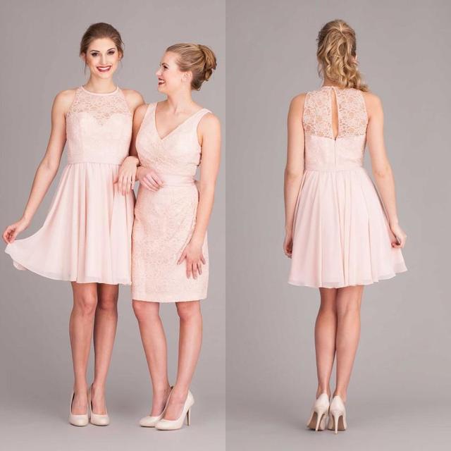 Mint Blush Pink Bridesmaid Dresses A Line V Neck Plus Size Wedding