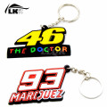 1 piece Motorcycle Key Chain Keychain Keyring Key ring SOFT RUBBER keychains For Marc Marquez 93 valentino rossi 46