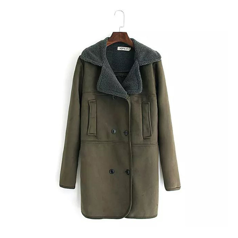 Plus Size Trench Coat Women Clothing Winter Army Green ...